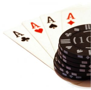 Cards with Casino Chips
