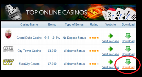 How sto download casino games step 2